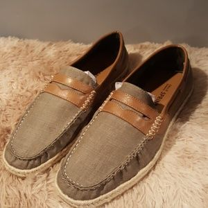 NWT Men's Espadrille Boat Style Driving Loafers